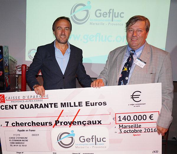 Christophe Pignol  SOCCER PLUS & Edmond Oliva PRESIDENT DU GEFLUC