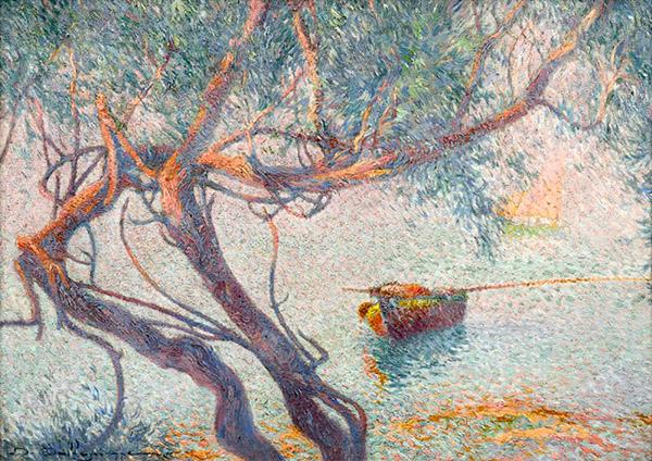 barque sous les pins
