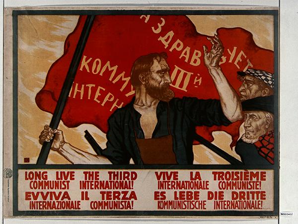 Affiche russe « Vive la 3ème internationale communiste ! 1917-1921. Bibliothèque nationale de France, Paris