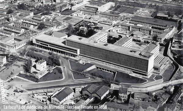 La Faculté de la Timone en 1958