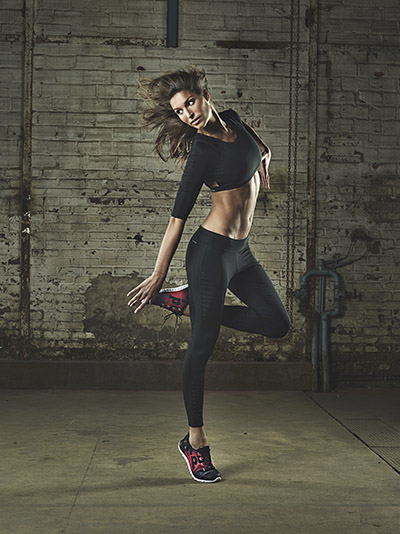 Laury Thilleman pour Reebok