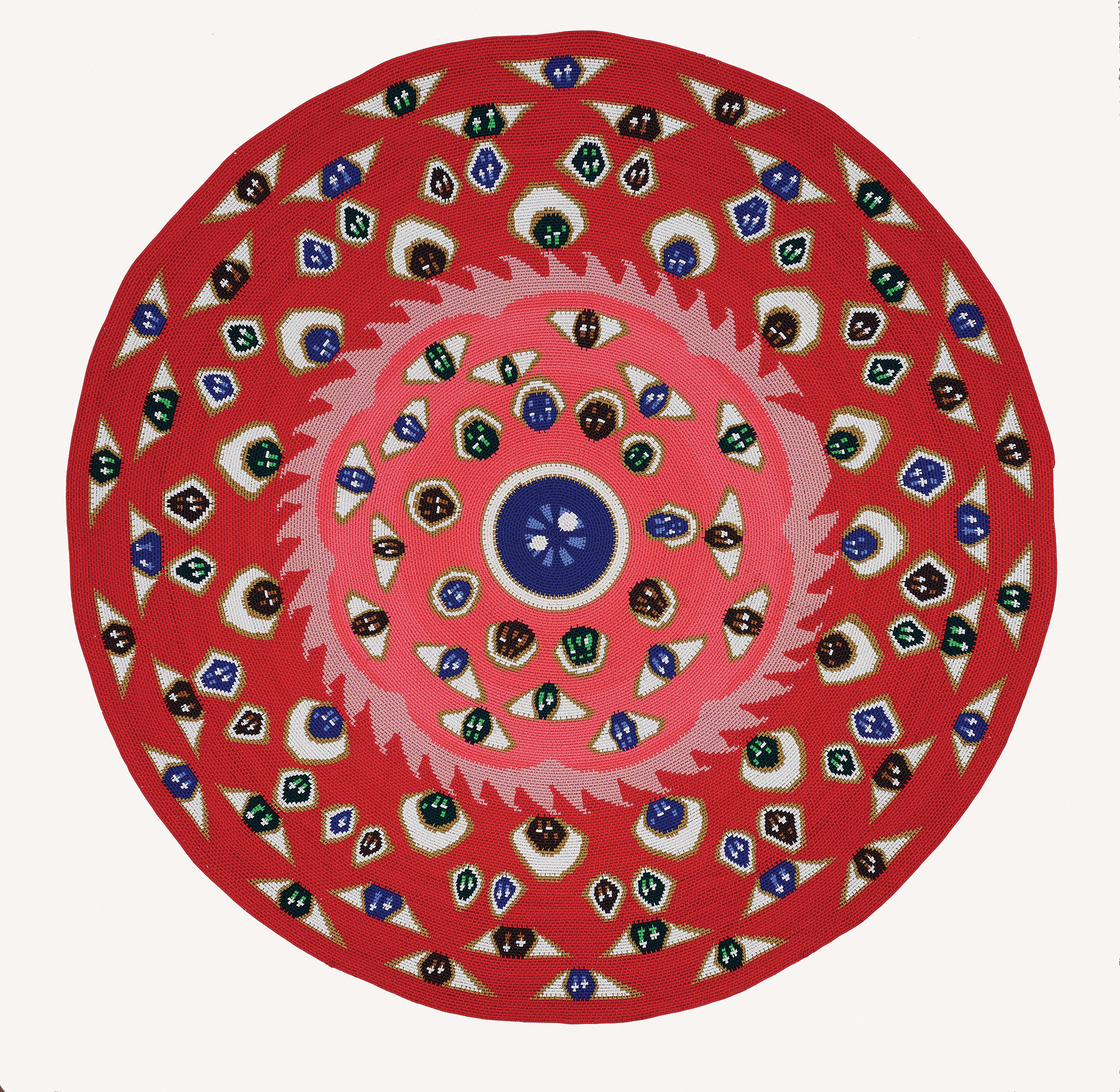 Hervé Di Rosa, Around the Eye in One Day. Câbles de téléphone tressés, 2013