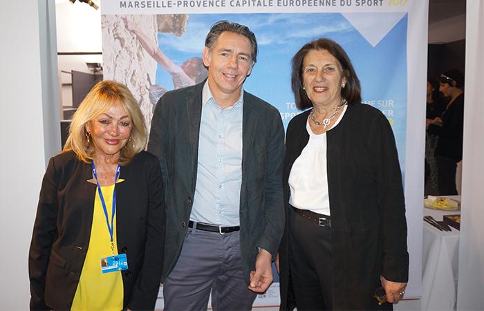 Monique Venturini VILLE DE MARSEILLE, Maxime Tissot OFFICE DE TOURISME & DES CONGRÈS DE MARSEILLE, Dominique Vlasto VILLE DE MARSEILLE
