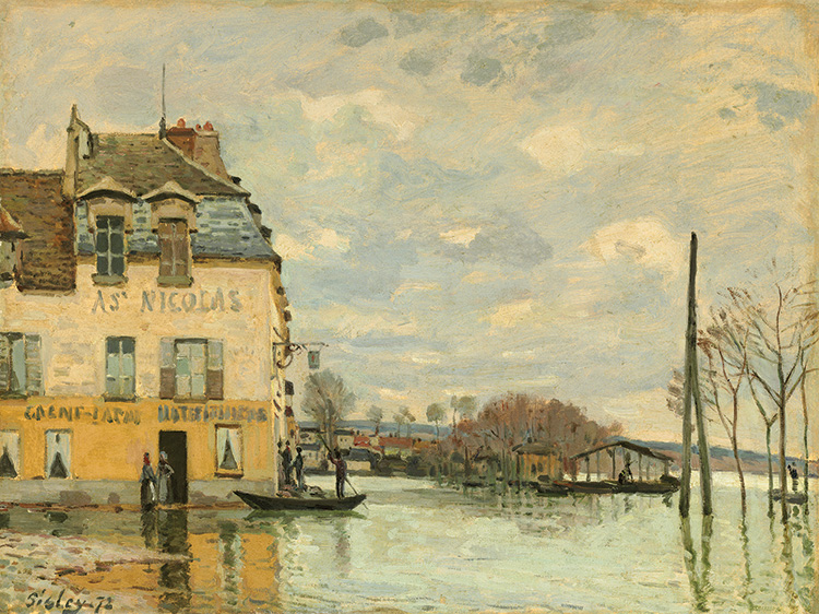 L'inondation à Port-Marly. National Gallery Of Art, Washington