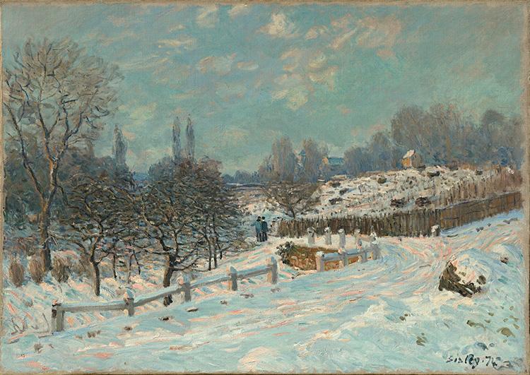 Route de Louveciennes, effet de neige - Musuem Barberini