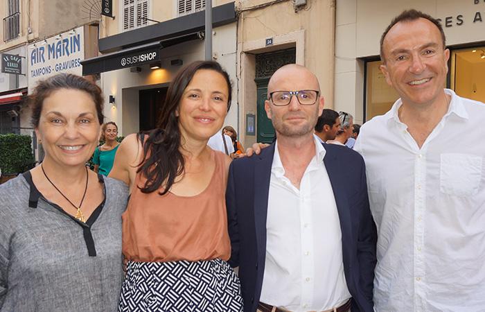 Katia Imbernon LIBRAIRIE ÉDITIONS IMBERNON, Laura Serra KOLEKTIV 318, Jérôme Louis ESPACES ATYPIQUES MARSEILLE, Gérard Perales
