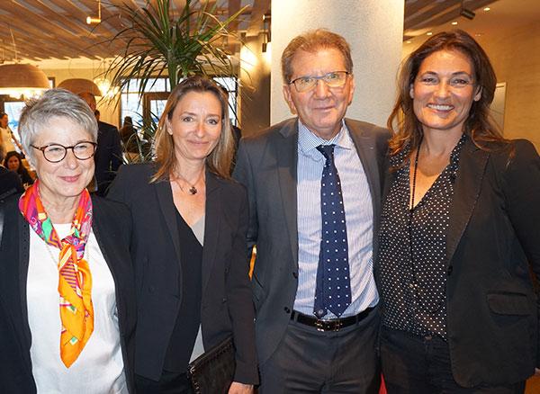 Martine Cadars CROIX-ROUGE, Jocelyne Binelli PROTOCOLE AGENCY, Guy Teissier MPM et Thalie Testot-Ferry PROTOCOLE AGENCY