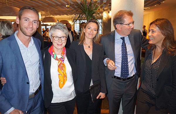 Florent De Carvalho PROTOCOLE AGENCY, Martine Cadars CROIX-ROUGE,  Jocelyne Binelli PROTOCOLE AGENCY, Guy Teissier MPM  et Thalie Testot-Ferry PROTOCOLE AGENCY