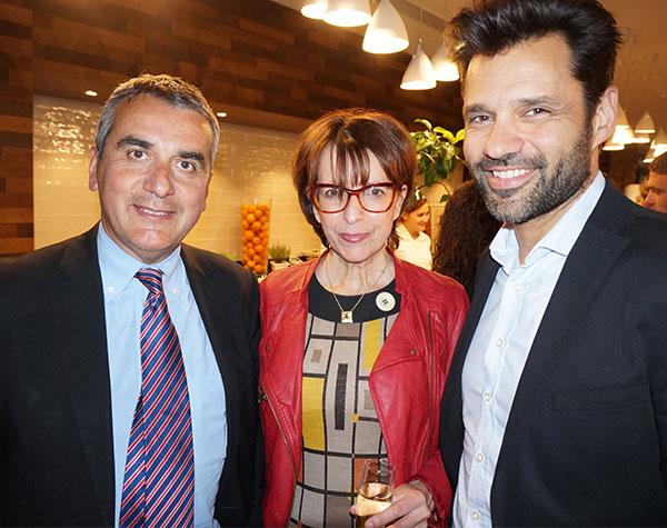 Thierry Huck CCI MARSEILLE,  Dominique Gérardin LE VENTRE DE L'ARCHITECTE et Nicolas Guyot HOTEL CARRE VIEUX-PORT